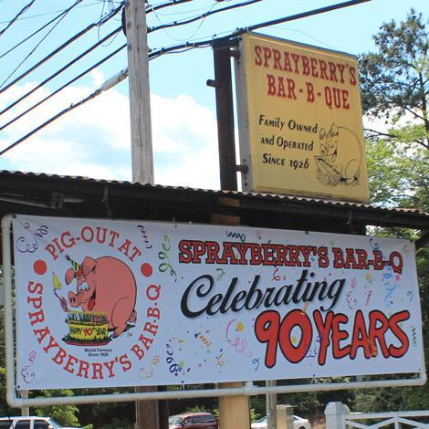 Sprayberry's BBQ - Celebrating 90 Years